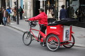 Cycle transport in Paris — Stock Photo
