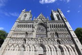 The Nidaros Cathedral in Trondheim ,Norway — Stock Photo