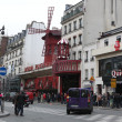 The Moulin Rouge in Paris, France. - Stock Photo
