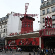 Stock Photo: Moulin Rouge in Paris, France.