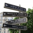 Stock Photo: Information signage in Paris
