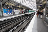 High speed metro in paris - Paris underground — Stock Photo