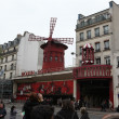 Moulin Rouge cabaret. Paris, France — Stock Photo