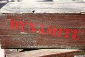 Dynamite on a box — Stock Photo