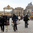 Stock Photo: PARIS - APRIL 28: Visitors go to Versailles palace April, 28, 20