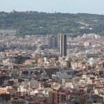 Panoramic view of Barcelona — Stock Photo