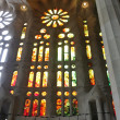 Interior of the Sagrada Familia cathedral in Barcelona, Spain — Stock Photo