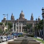 Placa De Ispania, the Nation Museum in Barcelona. Spain — Stock Photo