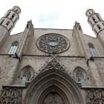 Facade of Santa Maria del Mar Church in Barcelona, Spain — Stock Photo #27278925