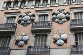 Fasáda budovy v Barceloně — Stock fotografie
