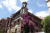 Famous Casa Vicens designed by Antoni Gaudi. Landmark in Barcelona, Spain. — Stock Photo