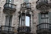 Facade of building in Barcelona — Stock Photo
