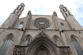 Facade of Santa Maria del Mar Church in Barcelona, Spain — Stockfoto