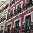 House facade exterior in Madrid — Stock Photo