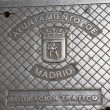 Manhole in Madrid — Stockfoto