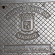 Manhole in Madrid — Stock Photo