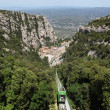 Montserrat mountain train. Spain — Stock Photo