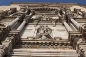 Exterior decor of facade of the Girona Cathedral, Spain — Stock Photo