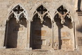 Windows of medieval church, Girona, Spain — Stock Photo