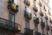 Facade of a building in Girona, Spain — Stock Photo