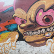 Graffiti with monsters — Stock Photo