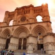 View of the Gothic cathedral in Cuenca, Spain — Stock Photo