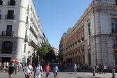 Street in the center of Madrid, Spain. — Stock Photo