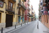 Spanish streets in Valencia — Stock Photo