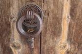 Aldrava em uma porta — Fotografia Stock