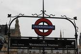 LONDON, UK - June 06: London Westminster underground station — Stock Photo