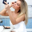 Woman during daily morning routines — Foto de Stock   #3012309