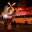 Stock Photo: PARIS - MAY 3: Moulin Rouge at night, on May 3, 2013 in Paris