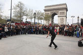 PARIS - APRIL 27:: B-boy doing some breakdance — Stock Photo