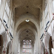 Interior of bath abbey in England — Stock Photo