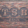 TSB bank sign on a wall in England — Stock Photo