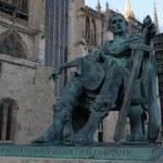 A bronze statue of Constantine I — Stock Photo
