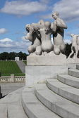 OSLO, NORWAY- JULY 26: Statues in Vigeland park in Oslo, Norway — Stock Photo