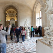 Visitors at the Louvre Museum — Stock Photo