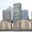 Canary Wharf and River Thames, London — Foto Stock