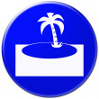 Blue icon of tropic island — Stock Photo #31000729