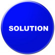 Blue solution sign — Stock Photo