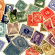 Texture of Postage Stamps — Stock Photo