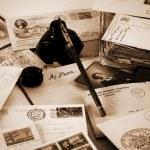 Vintage letters — Stock Photo #31001037