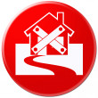 Icon of closed house — Stock Photo