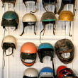 Collection of helmets — Stock Photo
