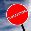 Stock Photo: Solution sign