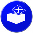 Icon of mail box and letter with crest — Stock Photo