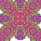 Red psychedelic pattern — Stock Photo