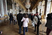 Visitors on queue for Versailles — Stock Photo