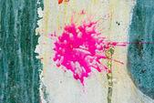 Pink splash on wall — Stock Photo